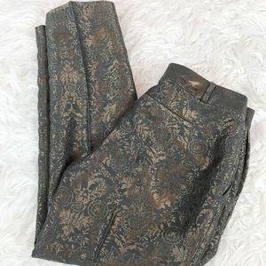 Banana Republic Martin Brocade Metallic Pant